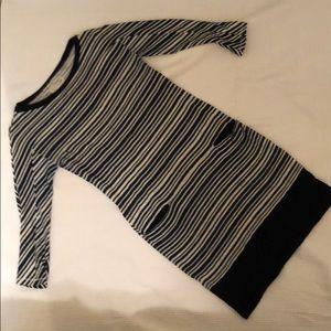 rag & bone / KNIT dress - navy and white stripe